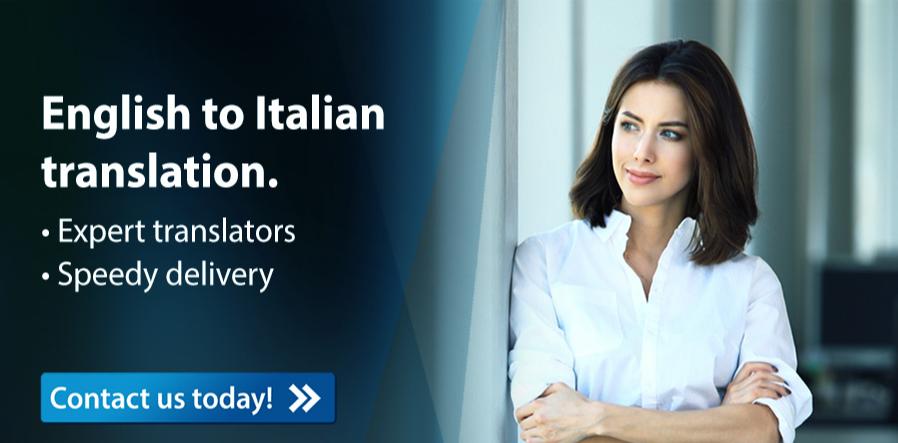 Translate English to Italian