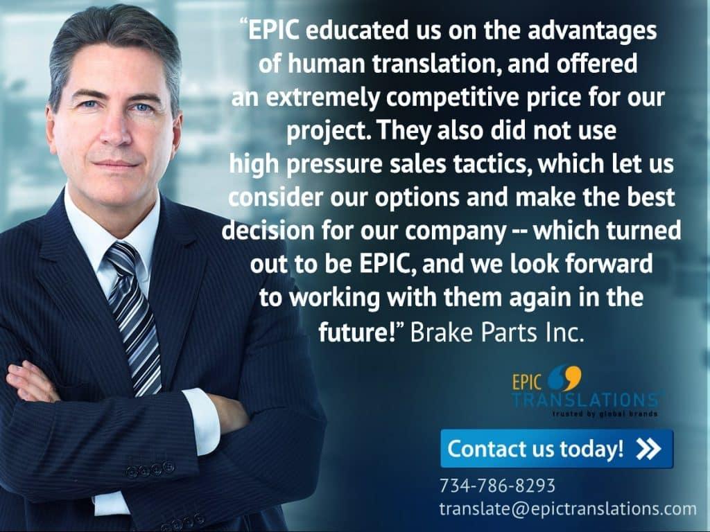 Testimonial_Brake Parts Inc