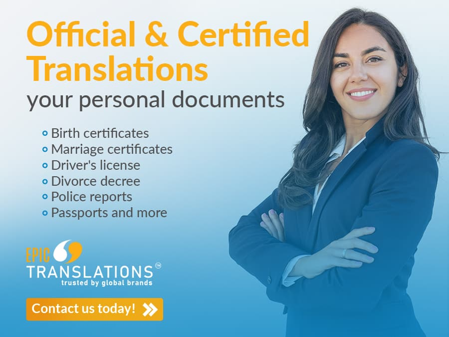 Certified translation service Michigan Spanish to English translation