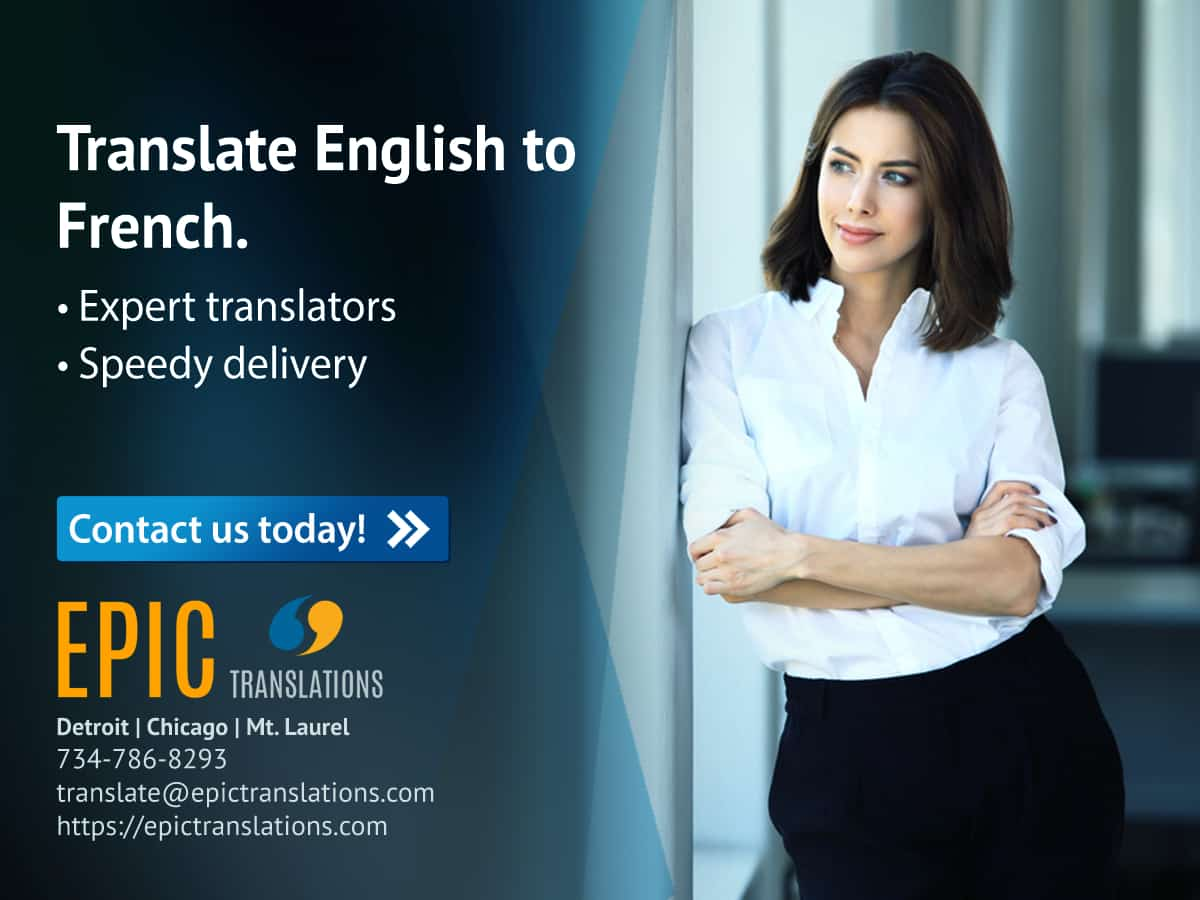 Translate English to French Michigan Document translation service